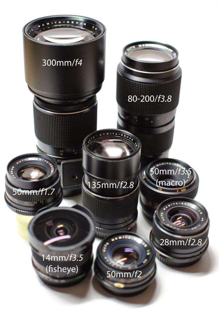 Mamiya NC-1000 lenses