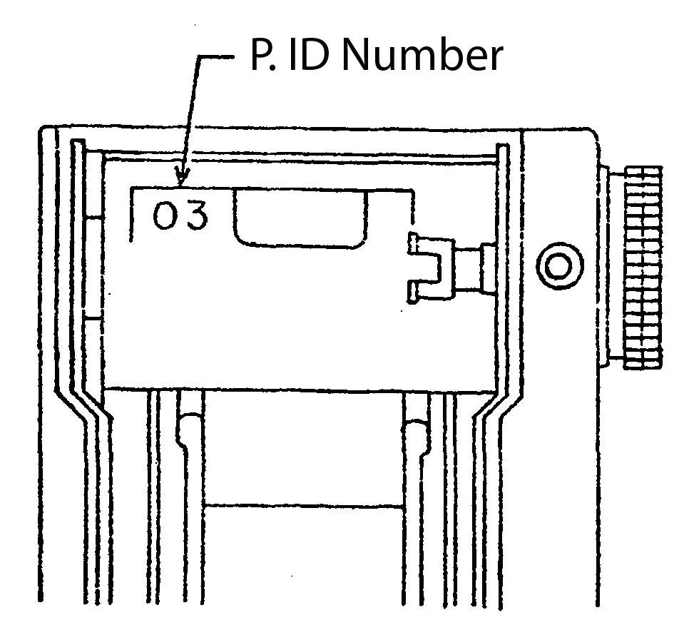 Mamiya-NC1000 detail - PID number location